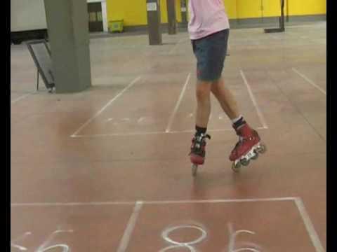 Inline slides - Acid backward with one or both skates on one wheel