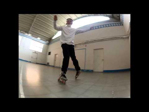 Inline Slides:Soul backward wheeling